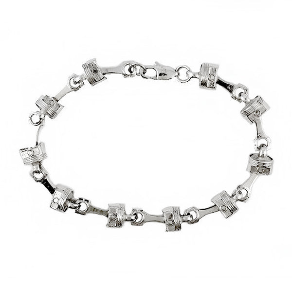 SK2291 Piston Bracelet Stainless Steel 9""