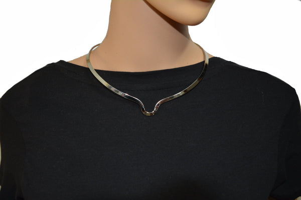 SK2400 Cuff Necklace Stainless Steel For Pendant Plain Or With Pendant