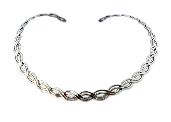 SK2450 Cuff Necklace Stainless Steel Double Twist