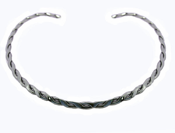 SK2460 Cuff Necklace Stainless Steel Double Twist
