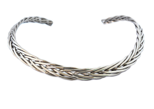 SK2480 Cuff Necklace Stainless Steel Six Strand