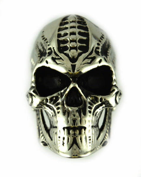 SK2502 Biomechanical Stainless Steel Skull Ring Size 9-14