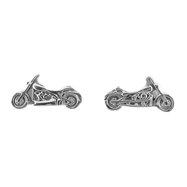 SK1619  Motorcycle Stud Earrings Post & Nut Stainless Steel Motorcycle Biker Jewelry
