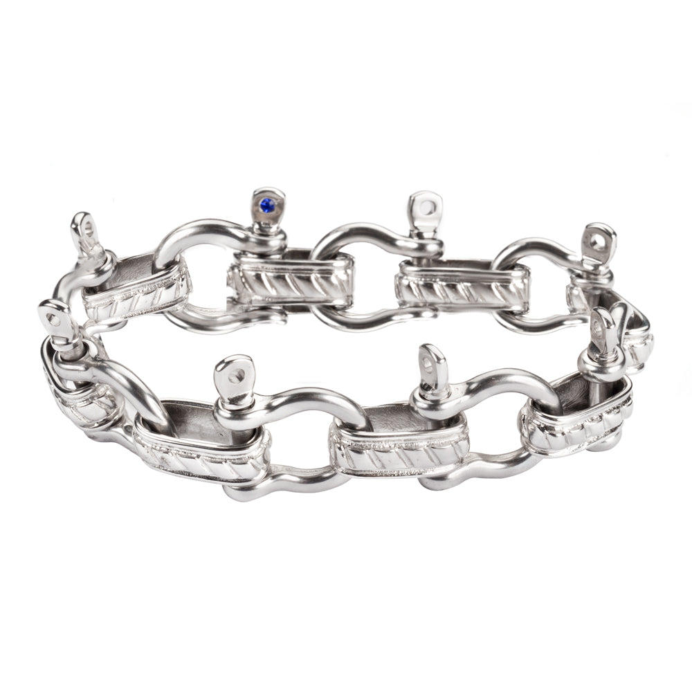SK1600 STAINLESS STEEL BOAT SHACKLE BRACELET BY KENNY MILLER KEY WEST STYLE