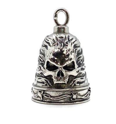 SK5350 Ride Bell® Flaming Skull
