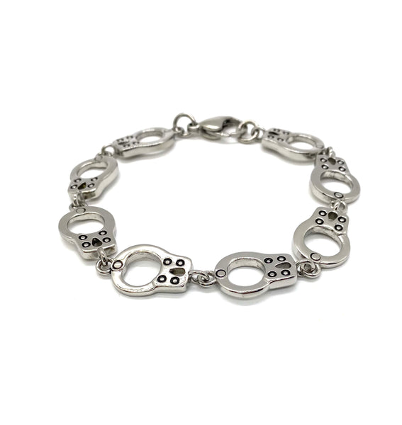 SK1452 Handcuff Bracelet  Stainless Steel Motorcycle Jewelry