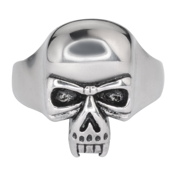 SK1016 Gents Vampire Skull Ring Stainless Steel Motorcycle Biker Jewelry