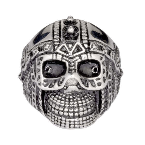 SK1022 Gents Cyborg Spike Skull Ring Stainless Steel Motorcycle Biker Jewelry