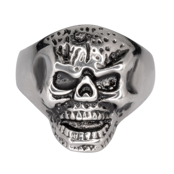 SK1027 Gents Mister Skull Ring Stainless Steel Motorcycle Biker Jewelry