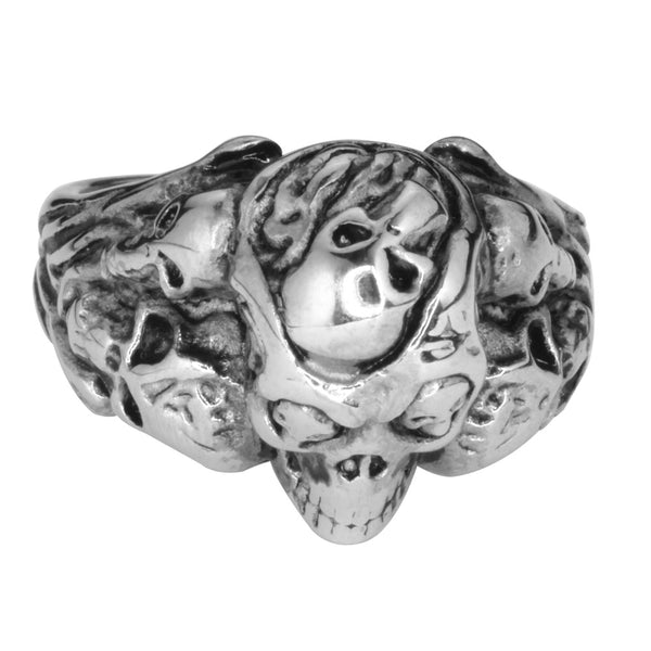 SK1029  Multi Skull Ring Stainless Steel Motorcycle Jewelry  Size 9-15