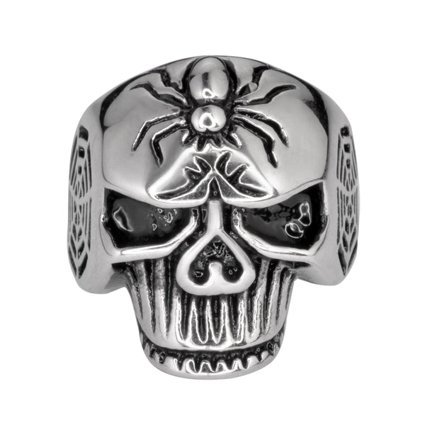 SK1037 Gents Spider Skull Ring Stainless Steel Motorcycle Biker Jewelry 9-14