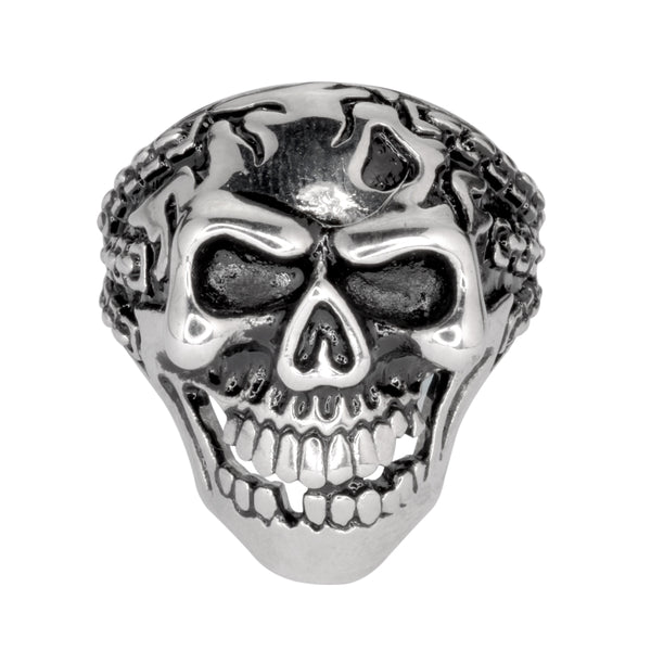 SK1045 Gents Demon In Chains Ring Stainless Steel Motorcycle Biker Jewelry