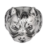SK1048 Gents Pit Bull Dog Ring Stainless Steel Motorcycle Biker Jewelry