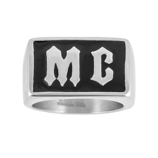 SK1061  Gents MC Ring Stainless Steel Motorcycle Jewelry