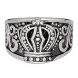 SK1081  Ladies Royal Crown Ring Stainless Steel Motorcycle Jewelry  Sizes 6-10