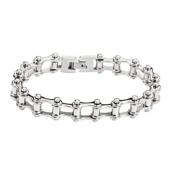"SK1127 1/2"" Wide All Stainless SteelåÊ Stainless Steel Motorcycle Bike Chain Bracelet"