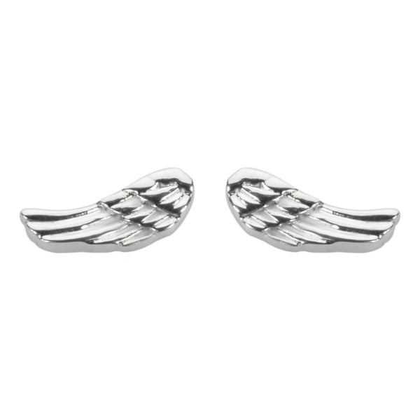 SK1460  Angel Wing  Earrings Post & Nut Stainless Steel Motorcycle Biker Jewelry