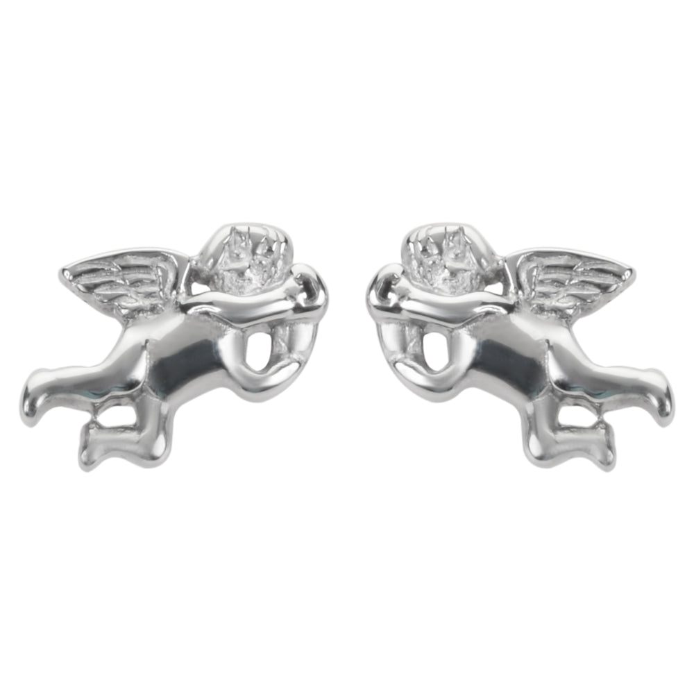 SK1474  Cherub Angel  Earrings Post & Nut Stainless Steel Motorcycle Biker Jewelry