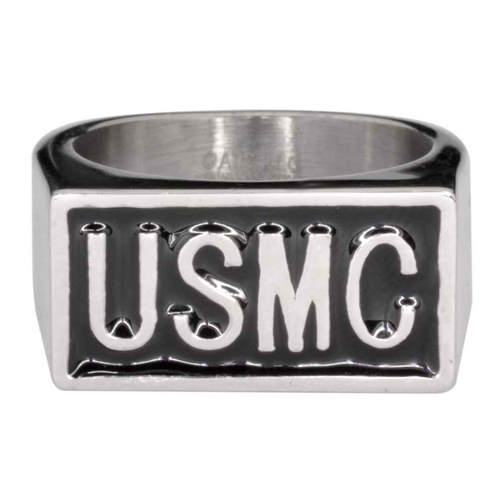 SK1721 Gents USMC Ring Stainless Steel Military Jewelry