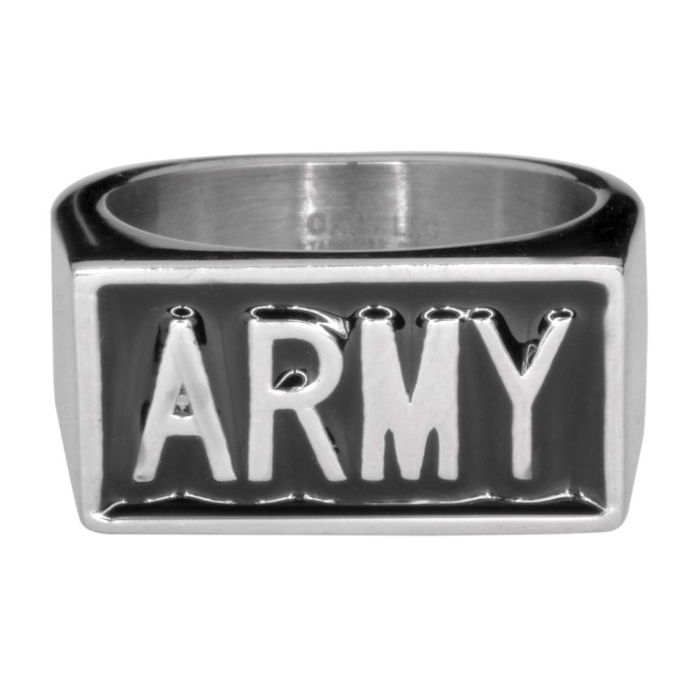 SK1722 Gents Army Ring Stainless Steel Military Jewelry 316L