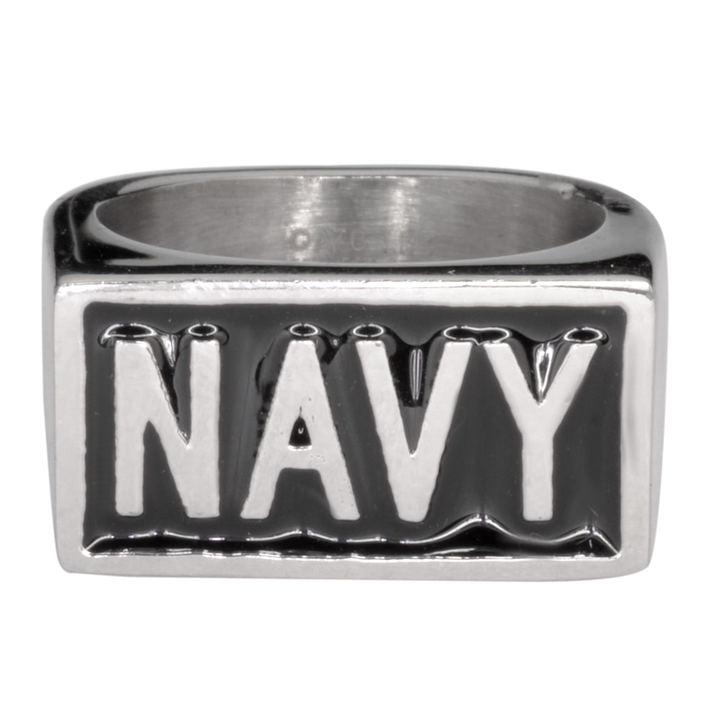 SK1723  Gents Navy Ring  Stainless Steel Military Jewelry 316L