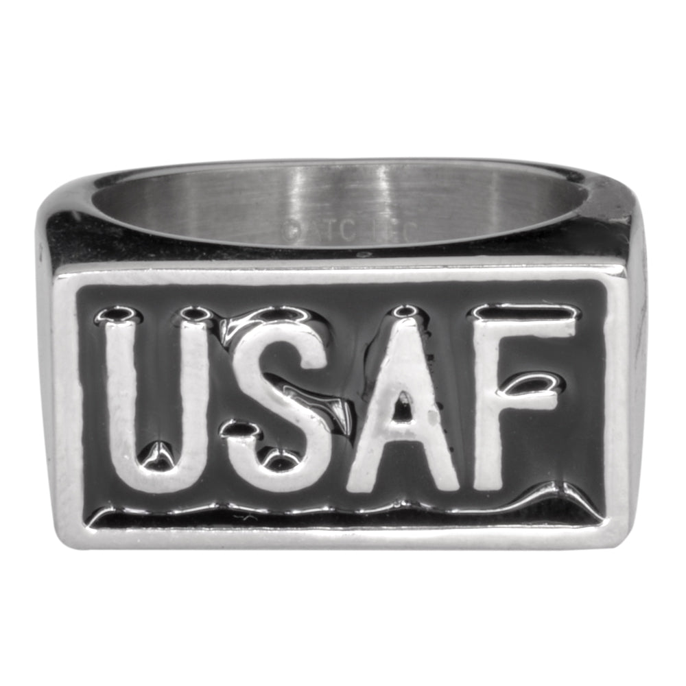 SK1724  Gents USAF Ring 316L Stainless Steel Military Jewelry