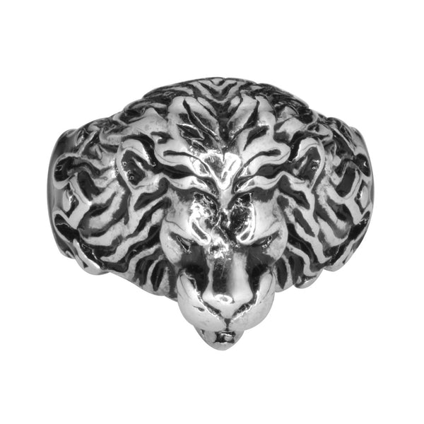 SK1744  Gents Lion King Ring Stainless Steel Motorcycle Jewelry  Size 9-14