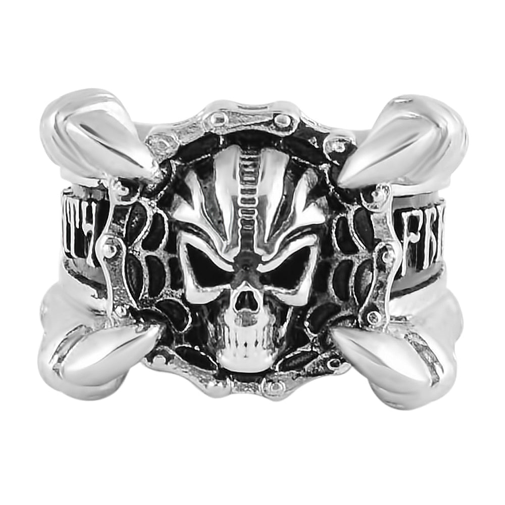 SK1775 Gents Claw Skull Bike Chain Ring Stainless Steel Motorcycle Biker Jewelry