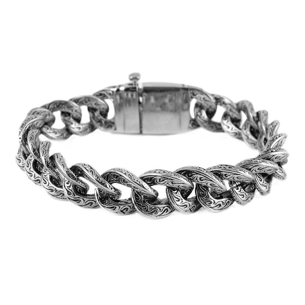 SK1791 Unisex 18MM Fancy  Stainless Steel Motorcycle Cross Bracelet Stainless Steel