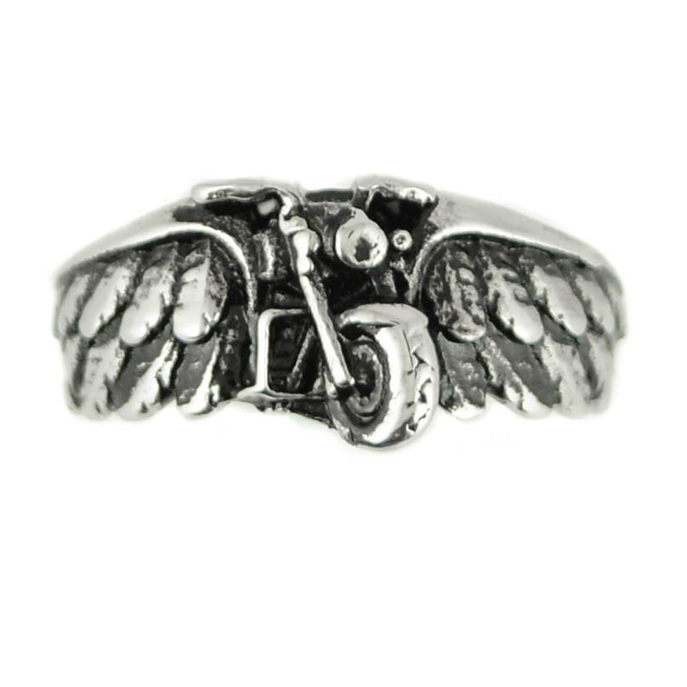 SK1860  Unisex Motorcycle Bike Wing Ring Stainless Steel Motorcycle Jewelry  Size 5-13