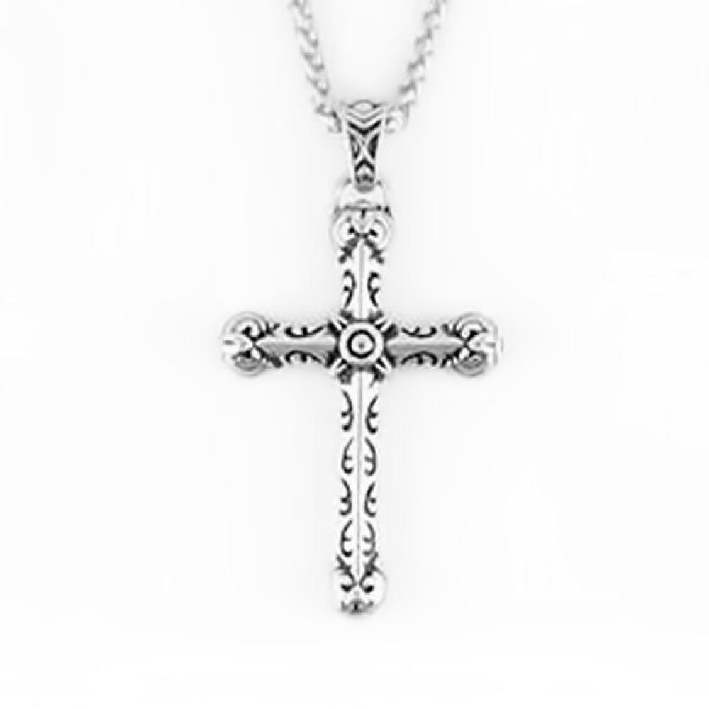 SK2273 Gents Tribal Cross  Stainless Steel Christian Motorcycle Jewelry $45.00