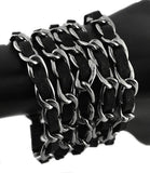 SK1360  Ladies Chain Leather Bracelet  Stainless Steel Motorcycle Jewelry