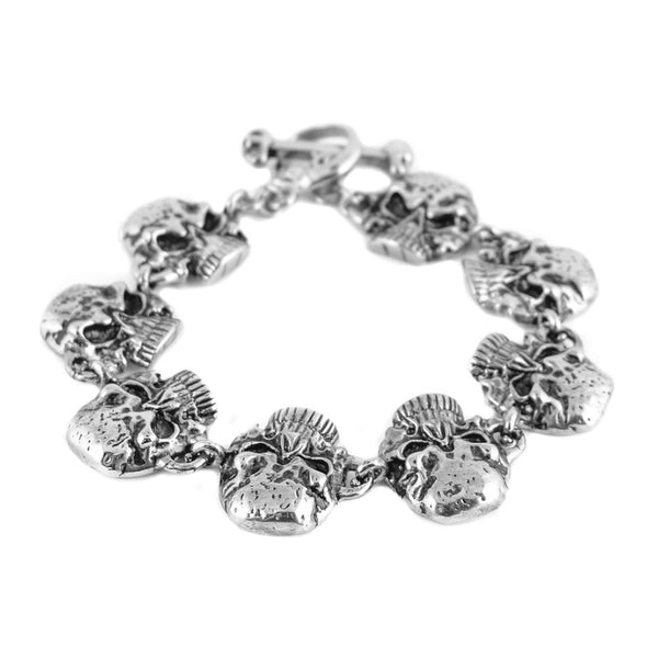 SK1395 Jawless Skull Gents Bracelet Stainless Steel Skull Jewelry