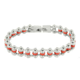 "SK2214 July Edition 3/8"" Wide All Silver    Ruby Imitation Crystal Centers"