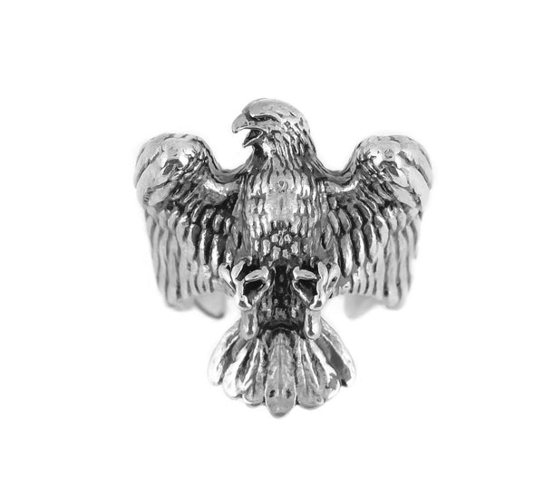 SK1079  American Bald Eagle Ring Stainless Steel Motorcycle Jewelry  Size 9-15