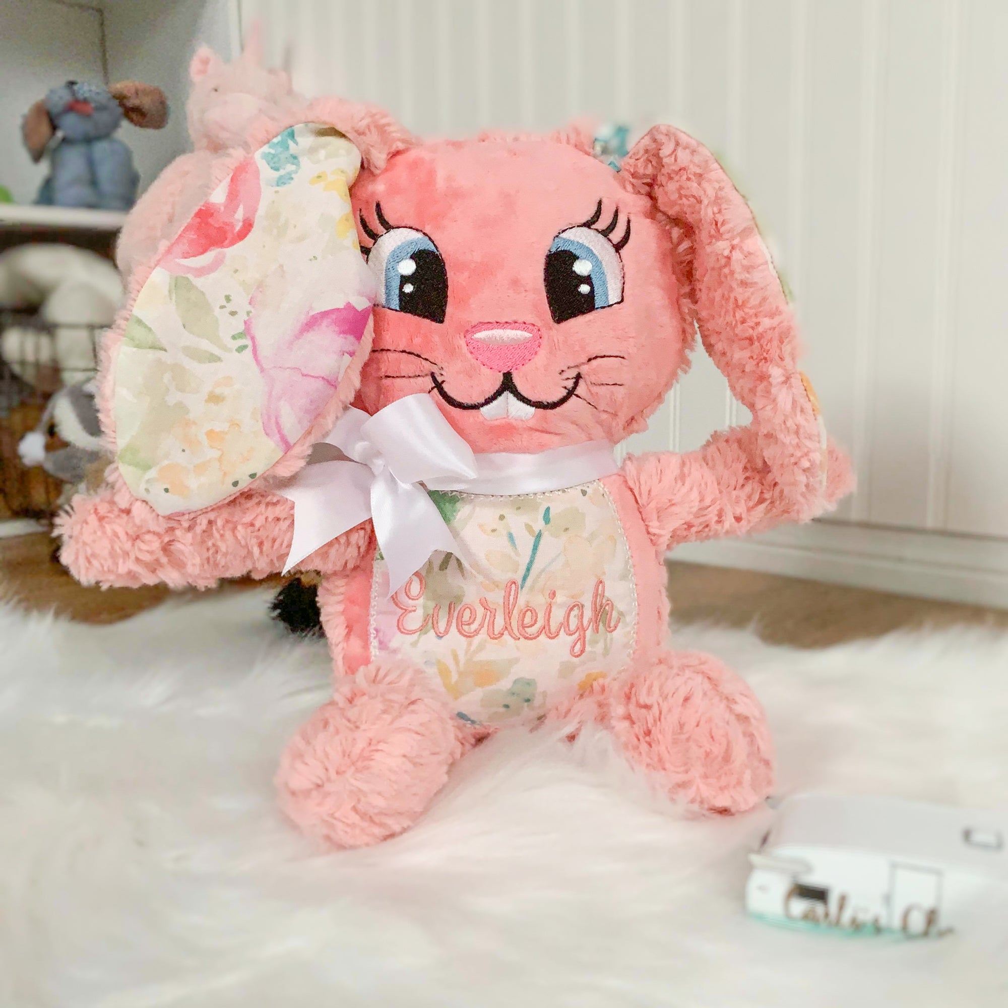 Personalized Easter Bunny Plush