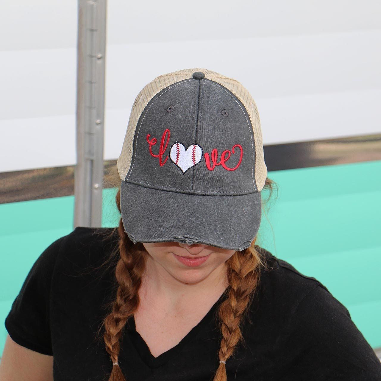 Baseball Love Trucker Hat - Carli's Closet