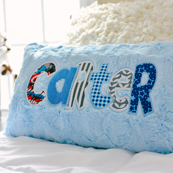 Boys Personalized Name Pillow