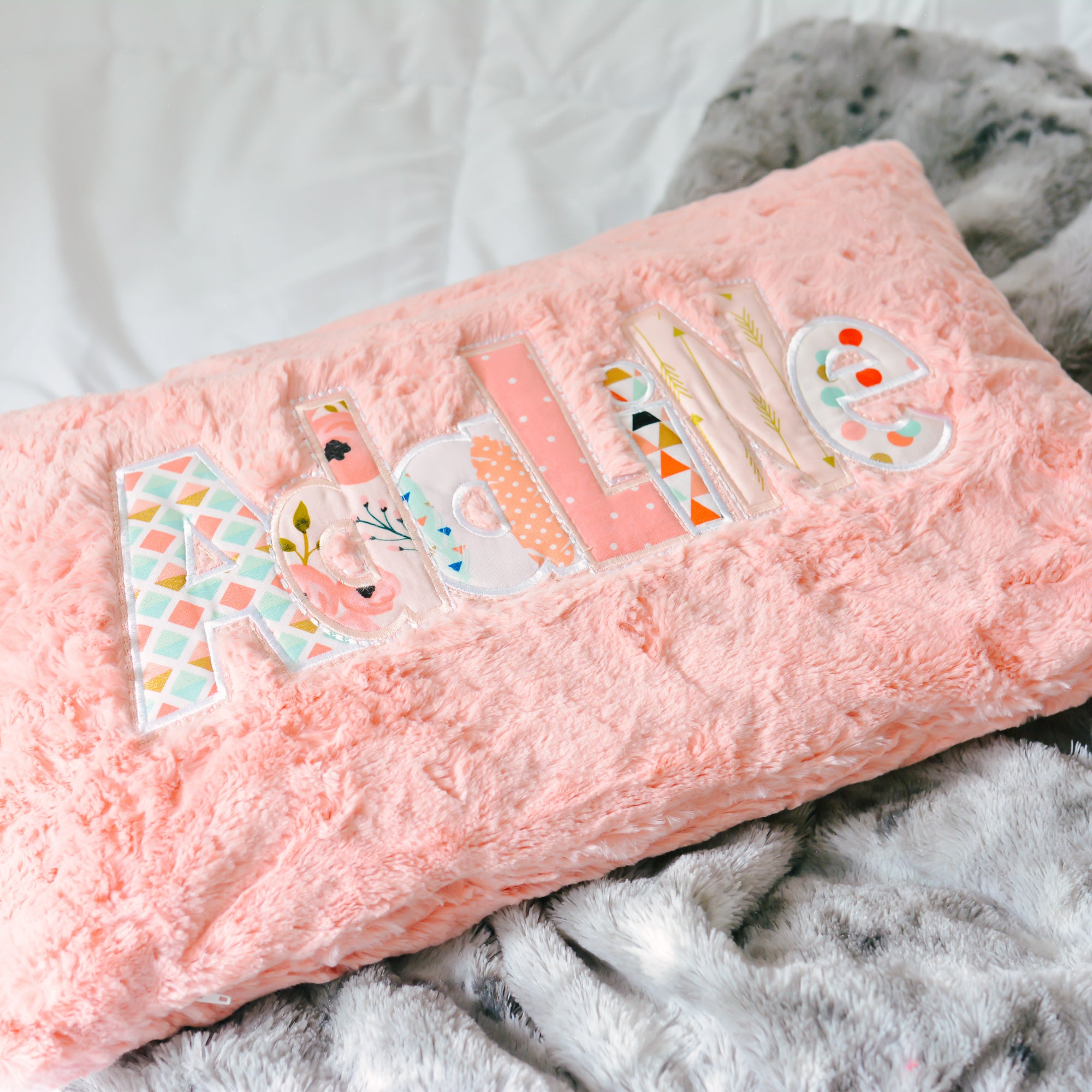 Girls Personalized Name Pillow