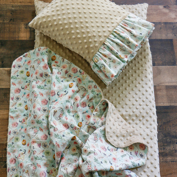 BoHo Nap Mat Cover with Pillow and Blanket Carli's Closet