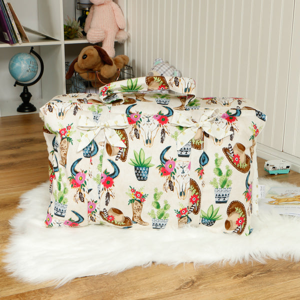 Southwestern Cowgirl Roll Up Nap Mat