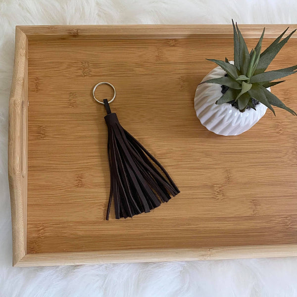 Leather Fringe Key Chain