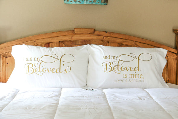 His and Hers Pillowcases handmade by Carli's Closet