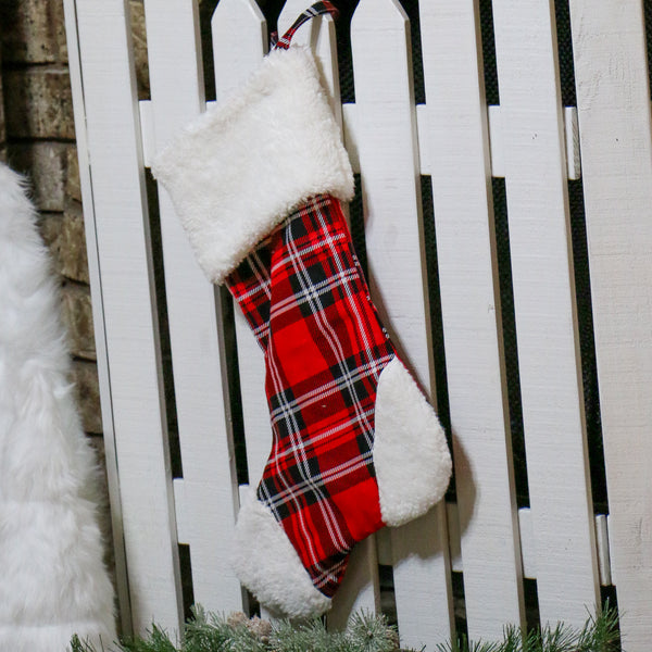 Buffalo Plaid Christmas Stocking for Him