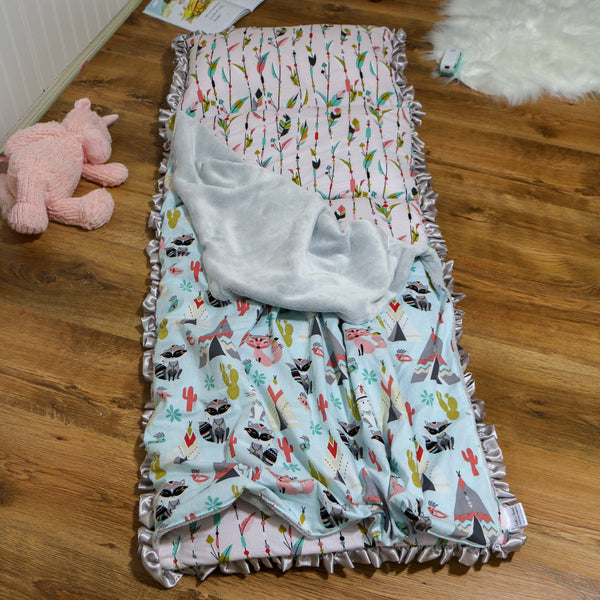 Girls MDO Nap Mat Roll Up Handmade by Carli's Closet