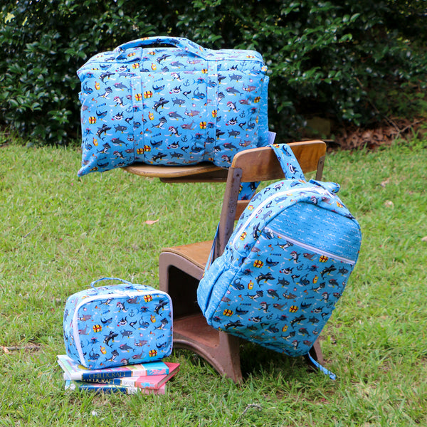 July Special Boys Shark Nap Mat Roll Up Bundle