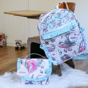 Narwhal Backpack and Lunchbox