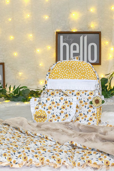Sunflower Nap Mat, Backpack and Lunchbox