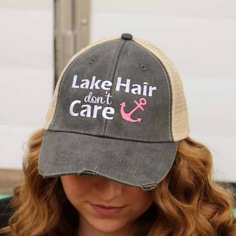 Trucker Hat Lake Hair Don't Care