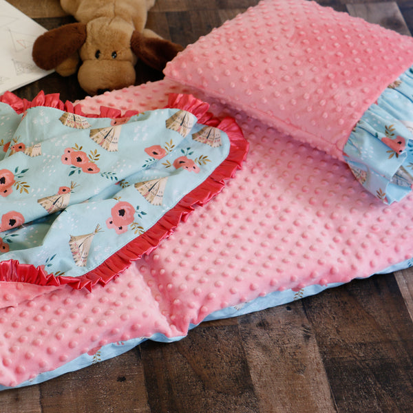 TeePee Nap Mat Set with Pillow and Blanket Carli's Closet